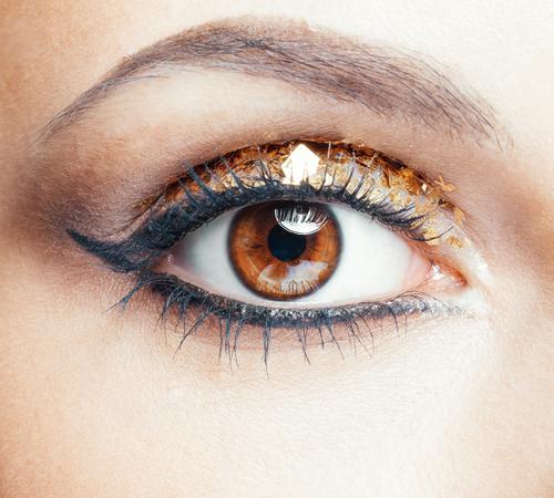 Glitzer Augen-Make-Up Silvetser Trend 2016